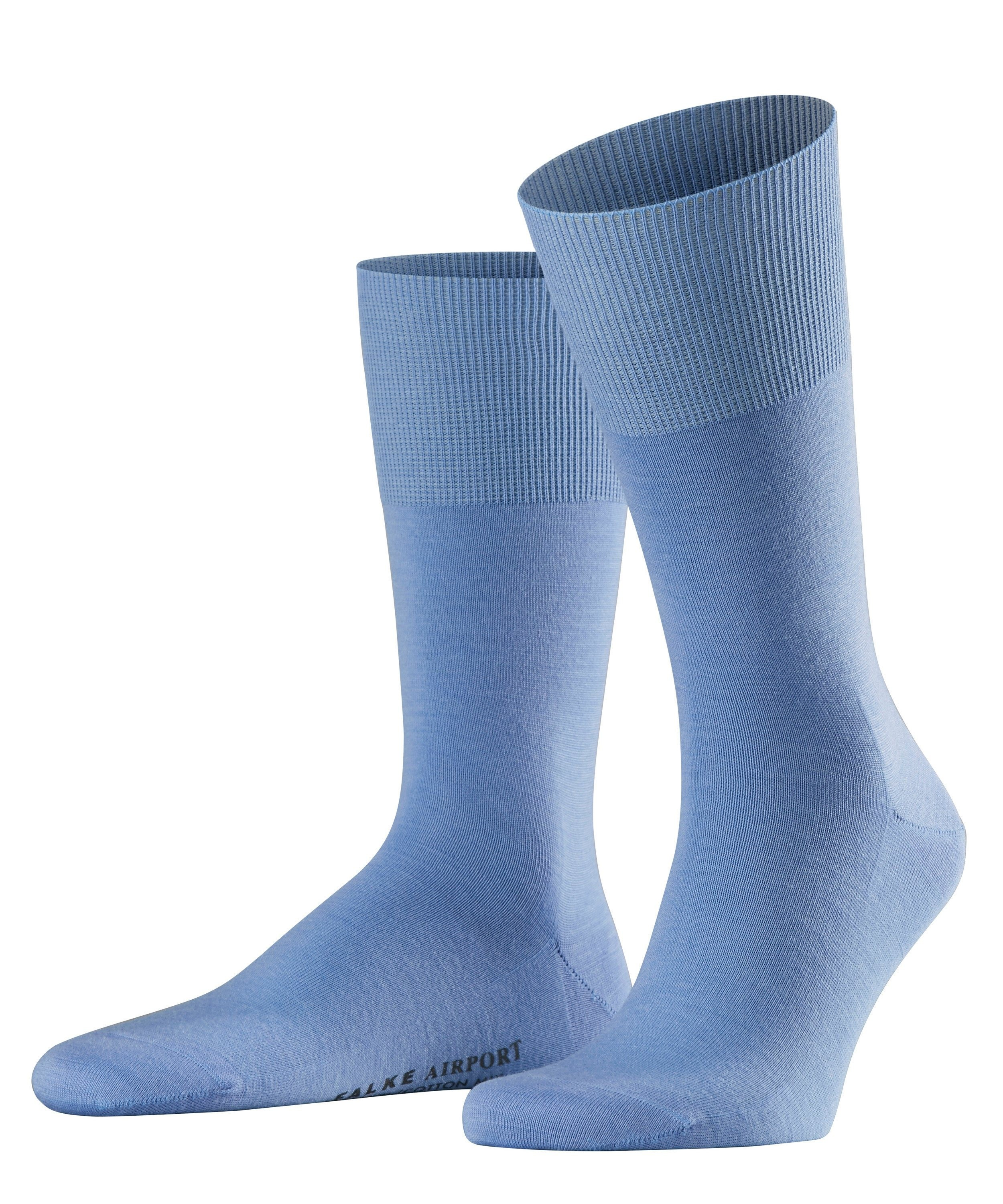 "Chaussette Homme - Laine & Coton - Falke Men ""Airport City"" 14435 - Bleue 6543"