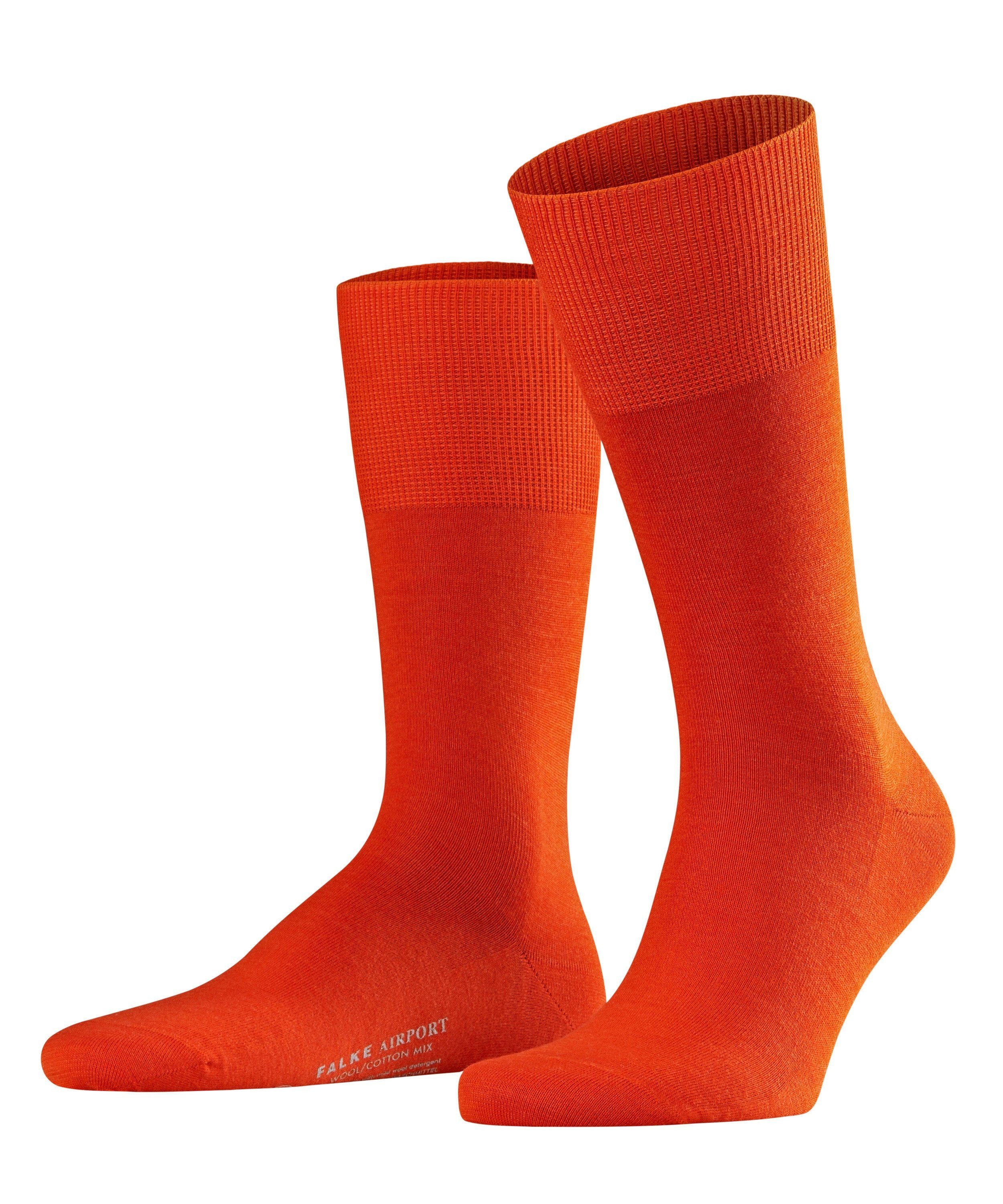 "Chaussette Homme - Laine & Coton - Falke Men ""Airport City"" 14435 - Orange Ziegel 8095"