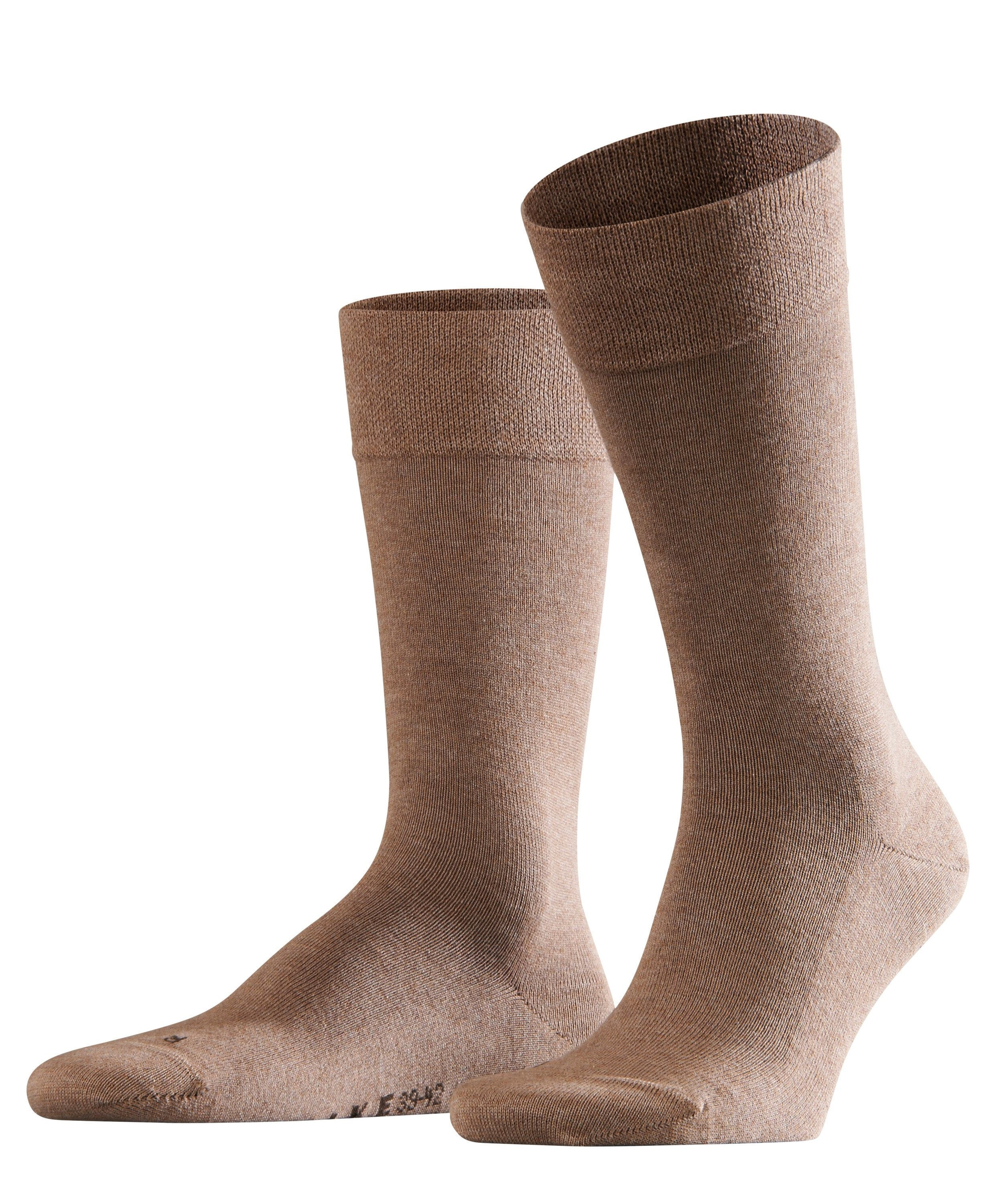 Chaussette Homme Sans Elastiques - 94% Coton - Falke Men Sensitive London 14616 Beige Nutmeg Mel 5410