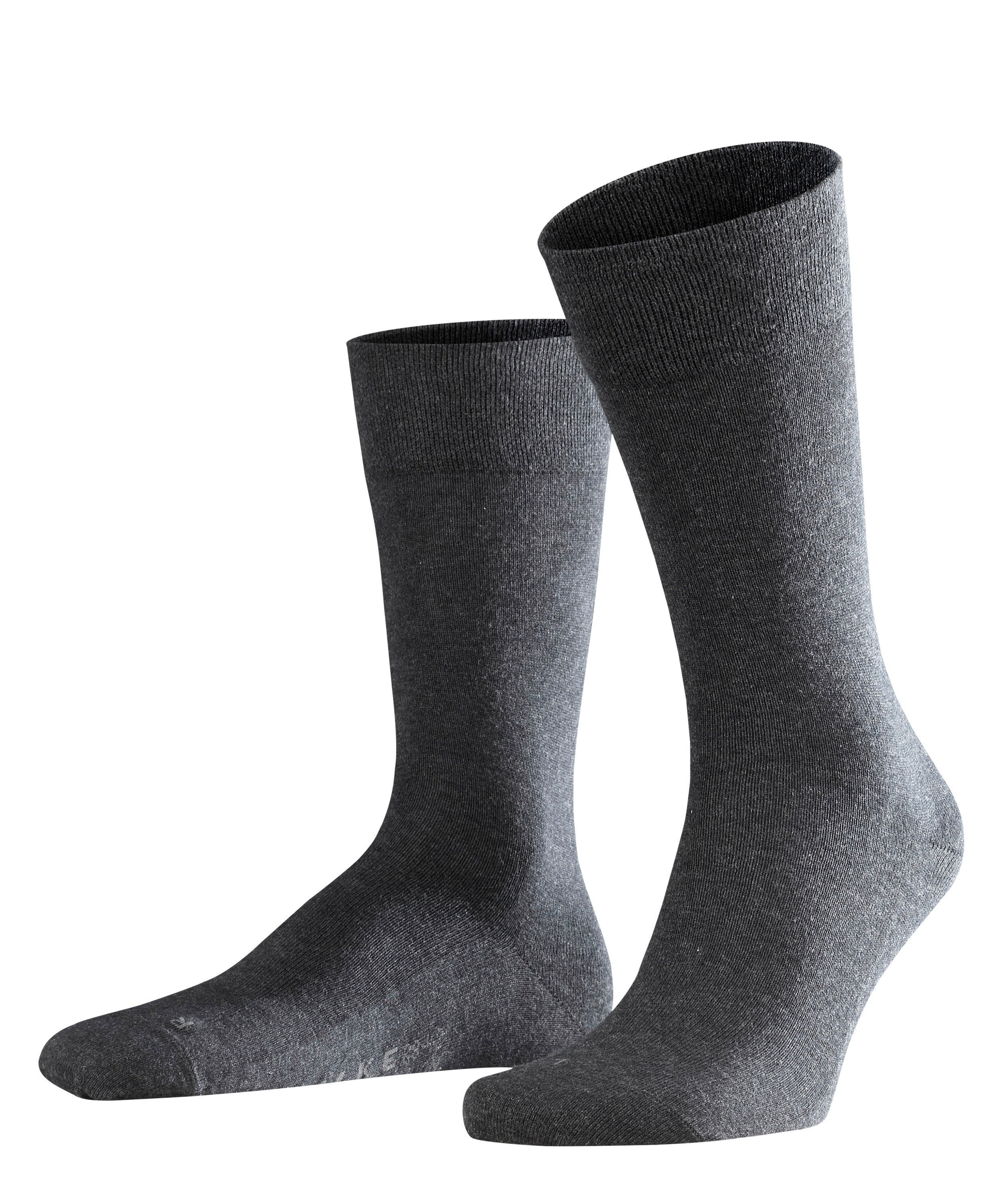Chaussette Homme Sans Elastiques - 94% Coton - Falke Men Sensitive London 14616 Gris Anthracite Mel 3080