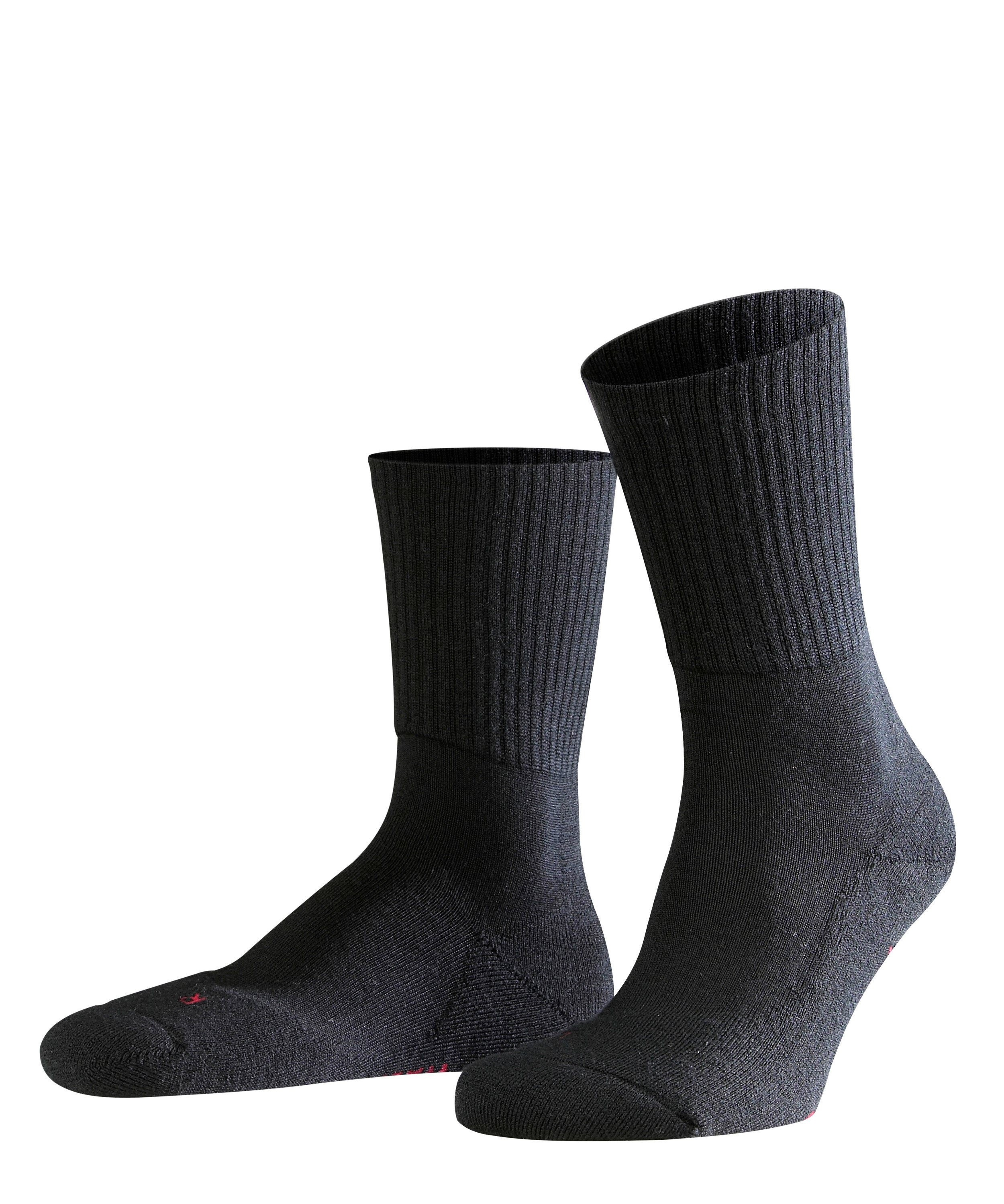 Chaussette de sport Unisexe - 66% Laine - Falke Men Walkie Light 16486 Noir 3000