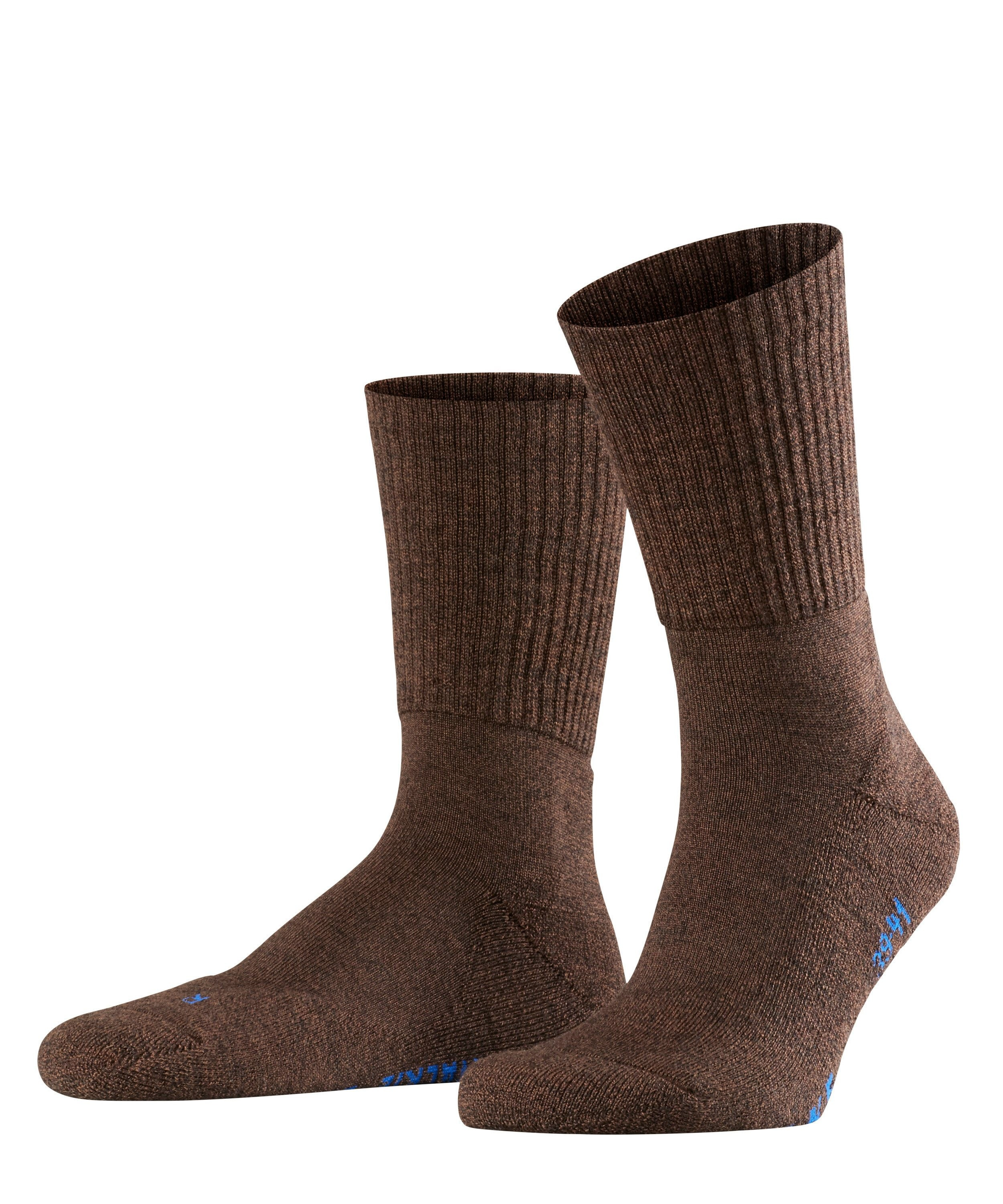 Chaussette de sport Unisexe - 66% Laine - Falke Men Walkie Light 16486 Brun Dark Brown 5450