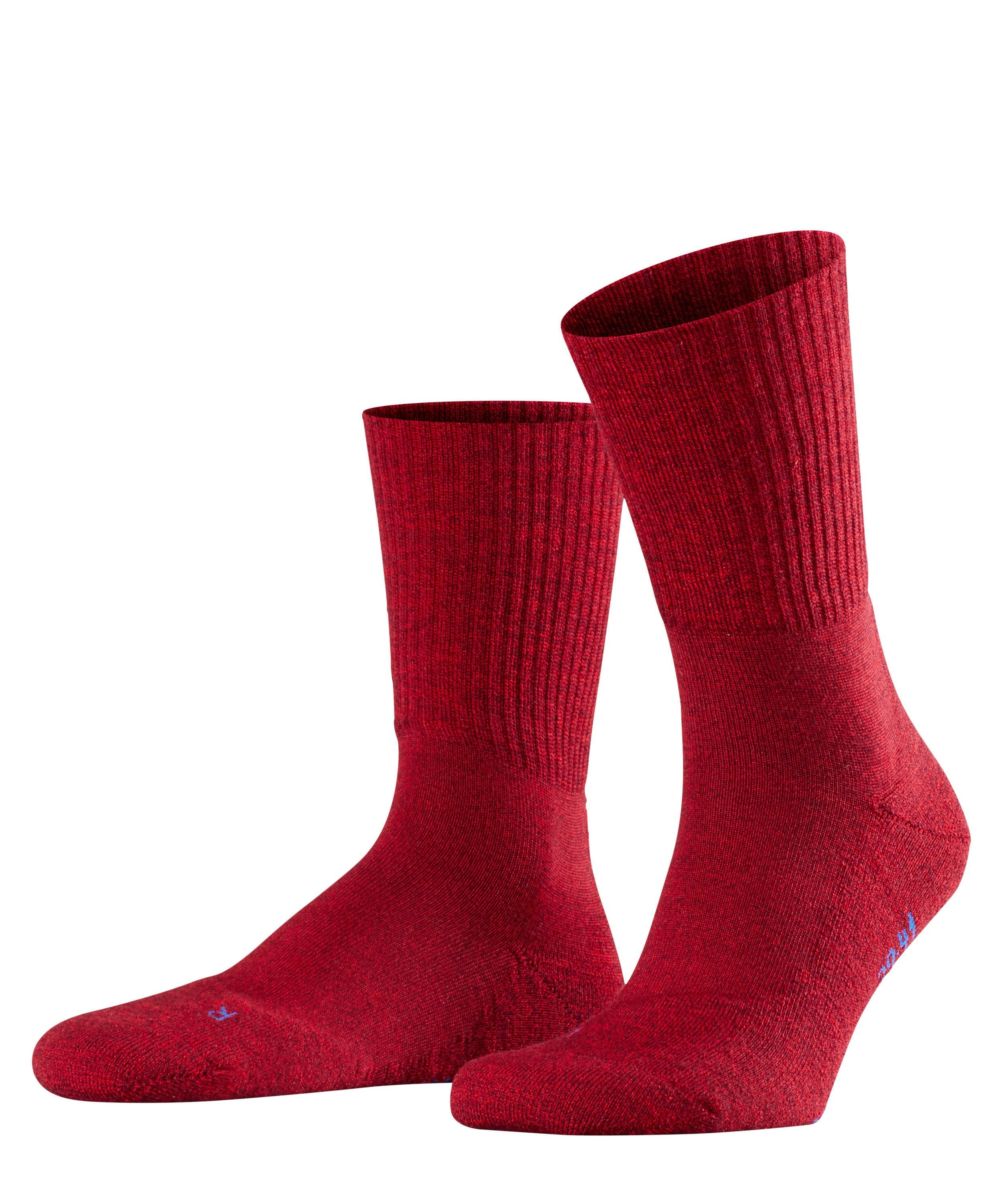 Chaussette de sport Unisexe - 66% Laine - Falke Men Walkie Light 16486 Rouge Scarlet 8280