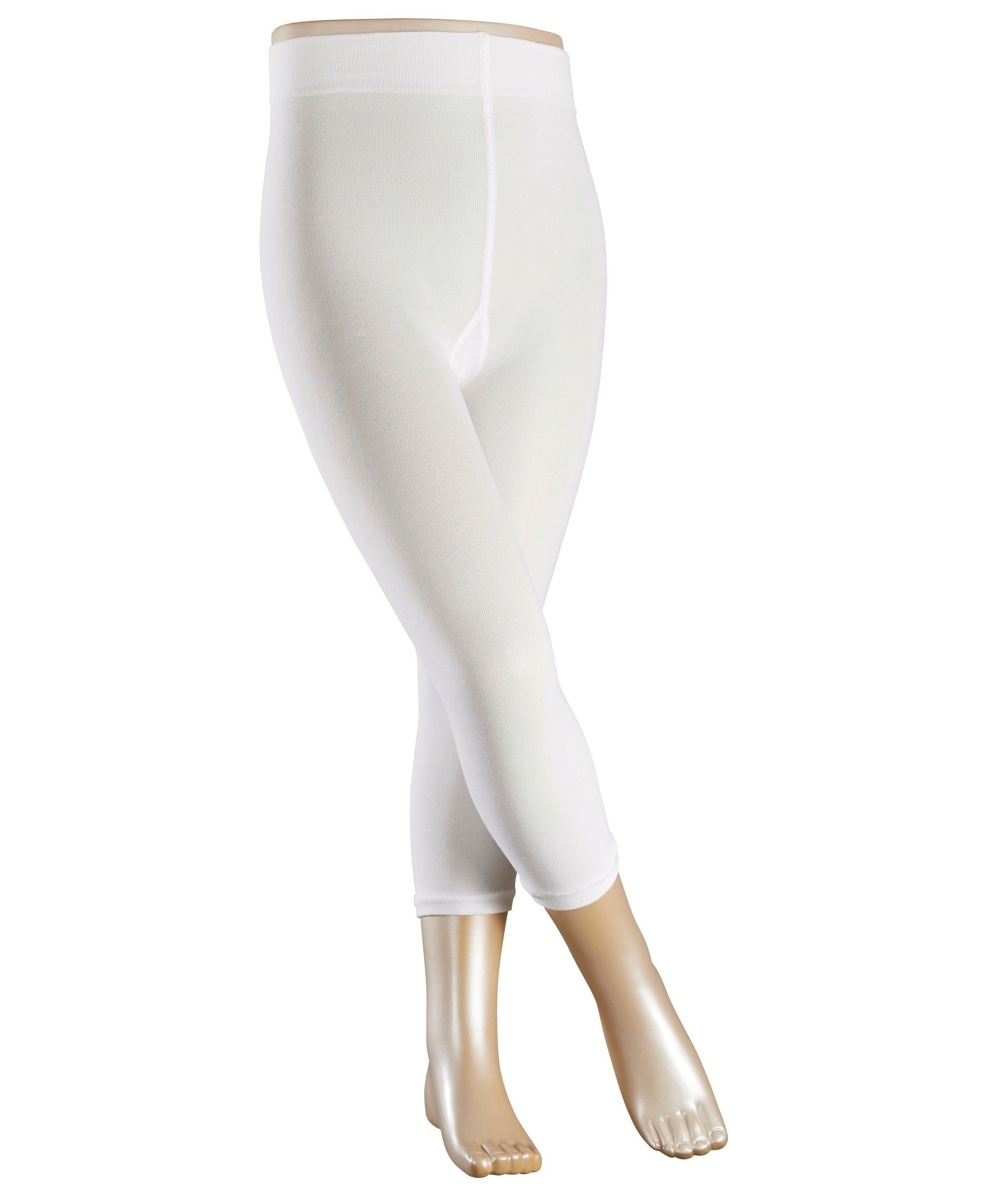 Legging stretch Enfant - Coton & Polyamide - Falke Children Cotton Touch 13830 Blanc 2000