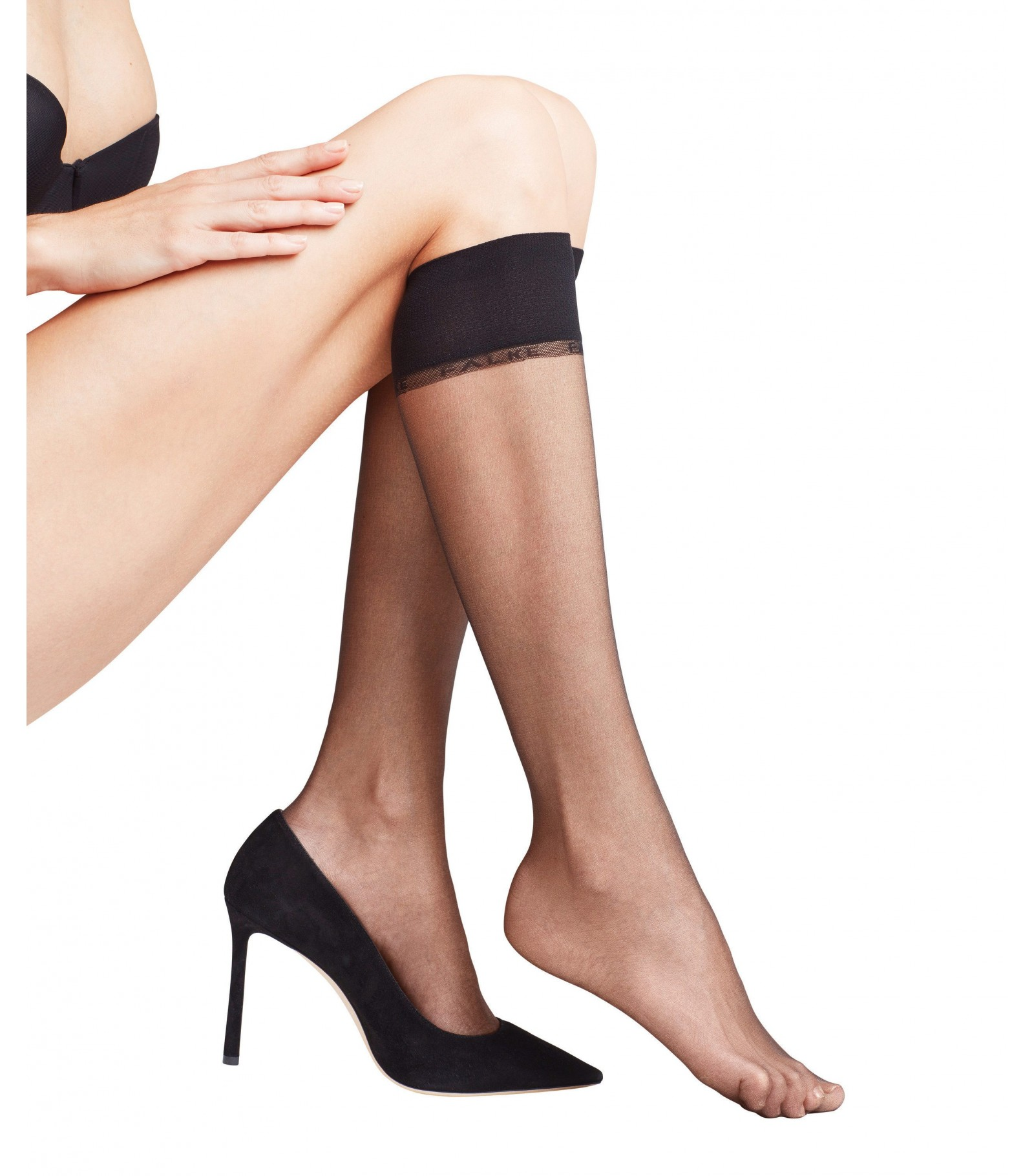 6a3255e58 Invisible and slightly tinted mid bottom - Falke Shelina 12 Knee Tights  41726