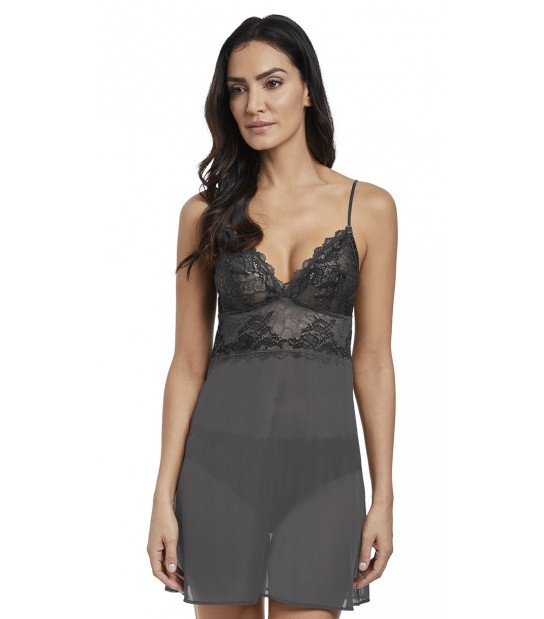 """Nuisette dentelle - Wacoal """"Lace Perfection"""" WE135009 - Gris CHL"""