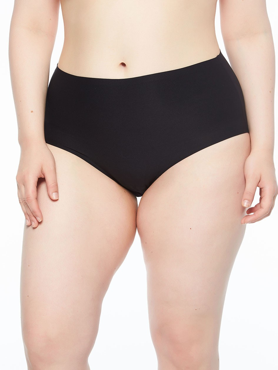 "Culotte invisible - XL grande taille - Chantelle ""Soft Stretch XL"" CH11370 - Noir 011"