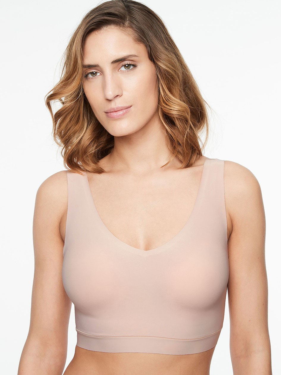 "Brassière paddée sans armatures V-neck - Chantelle ""Soft Stretch"" C16A10 - Gold 01N"