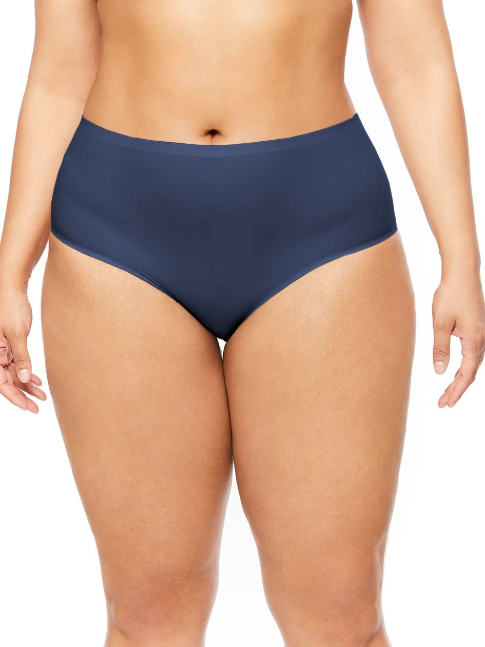 "Culotte invisible - XL grande taille - Chantelle ""Soft Stretch XL"" CH11370 - Dark Blue 0SQ"