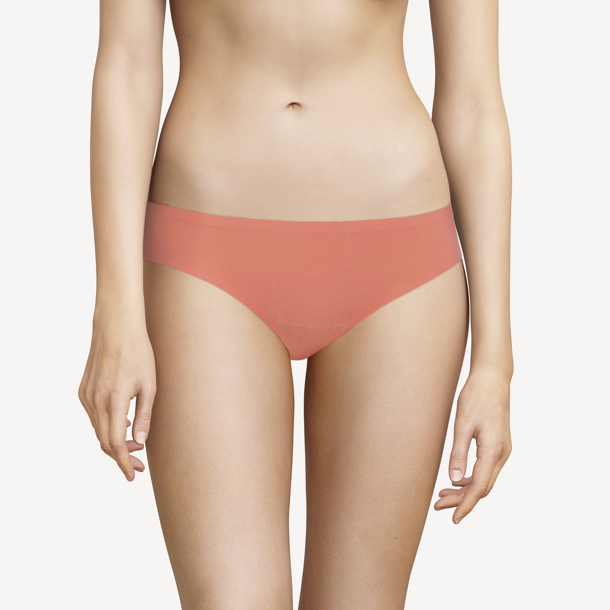 "Slip invisible taille basse - Chantelle ""Soft Stretch"" CH26430 - Rose Canyon 038"