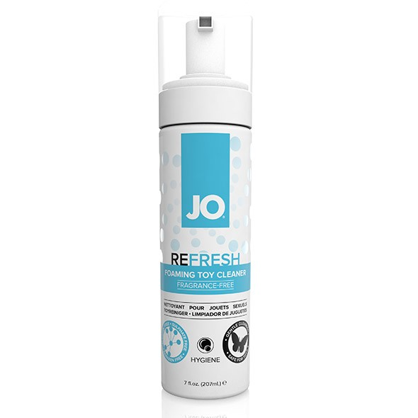 Mousse nettoyant sextoys - System JO Refresh Foaming Toy Cleaner - Neutre 207ml